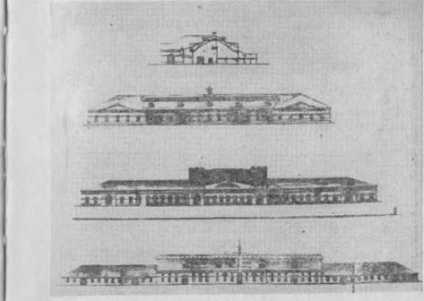 Фасады заводов XIX века (Сузунский, Гурьевский)