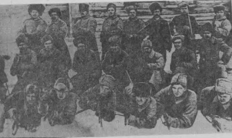 Отряд кольчугинских красногвардейцев под командованием Корта, направлявшийся в с. Брюханово для подавления кулацкого восстания