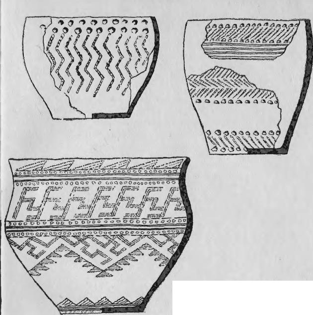 Сосуды первых земледельцев 2 тыс. л. до н. э. (андроновский могильник у с. Большое Пичугино).