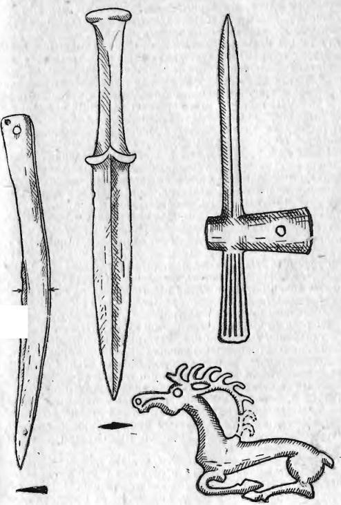 Бронзовые предметы татарской культуры (могильник «Ягуня» VI-V вв. до н. э.)