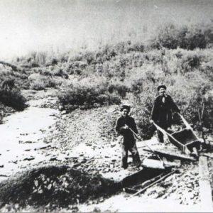 Рабочие-шорцы на золотых приисках