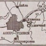 Фото 18. Карта-схема г. Анжеро-Судженска